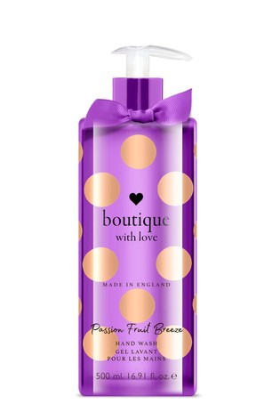Boutique from The English Bathing Company The English Bathing Company, Boutique With Love Hand Wash - Passion Fruit Breeze 500ml