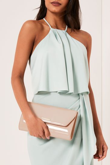 Lipsy Nude Envelope Clutch Bag