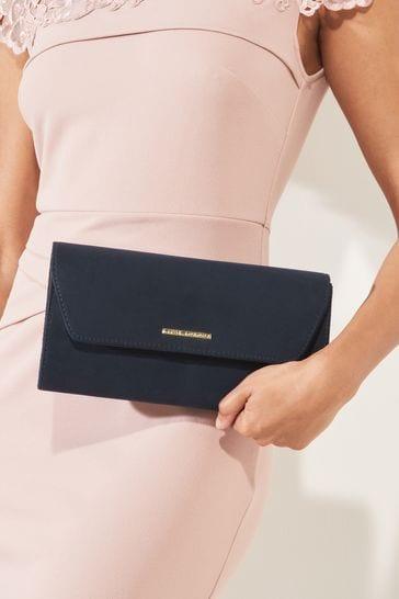 Lipsy Navy Envelope Clutch Bag