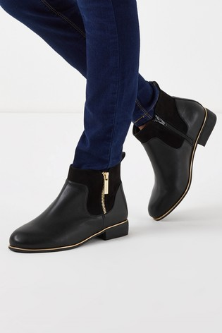 Buy Lipsy Flat Ankle Boots from Next USA