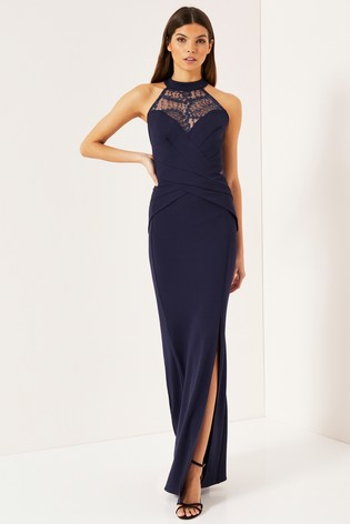 authorized site new arrive on feet images of Buy Lipsy Lace Sequin Insert Halter Maxi Dress from Next Ireland