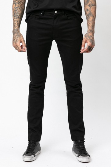 Religion Black Slim Fit Jeans In Stretch Denim With Tapered Ankle