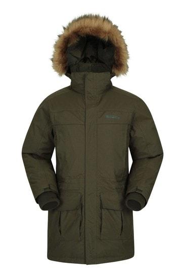 Mountain Warehouse Khaki Mountain Warehouse Antarctic Extreme Waterproof Mens Down Jacket