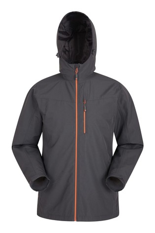 Mountain Warehouse Grey/Black Brisk Extreme Mens Waterproof Jacket