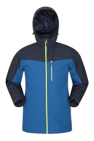 Mountain Warehouse Blue Brisk Extreme Mens Waterproof Jacket