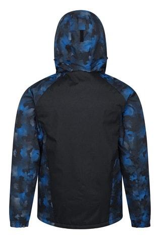 Mountain Warehouse Blue Camouflage Shadow Mens Printed Ski Jacket