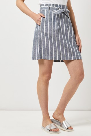Dorothy Perkins Stripe Paper Bag Skirt