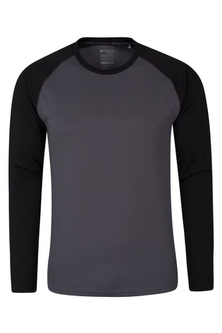 Mountain Warehouse Black Endurance Mens Long Sleeved Top