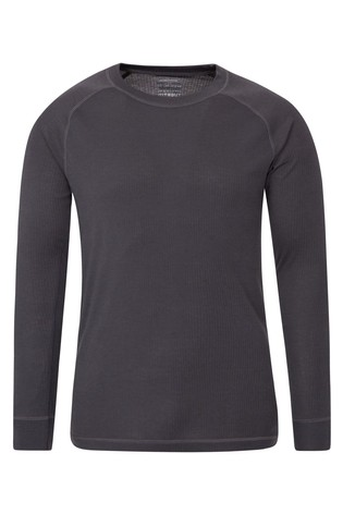 Mountain Warehouse Grey Talus Mens Long Sleeved Round Neck Top