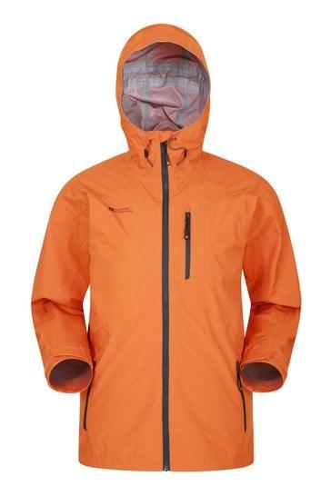 Mountain Warehouse Burnt Orange Bachill Mens Waterproof Jacket