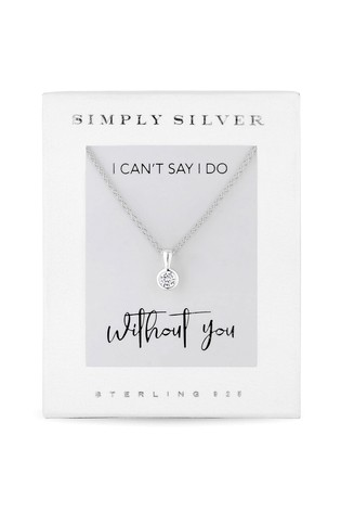 Simply Silver Sterling Silver Besel Pendant