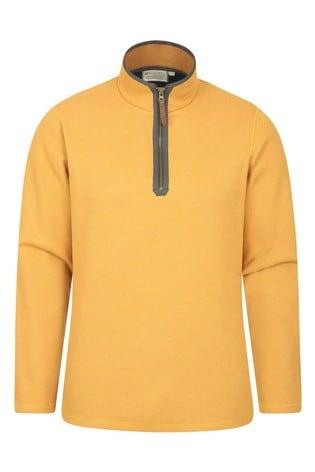 Mountain Warehouse Yellow Beta Mens Zip Neck Top
