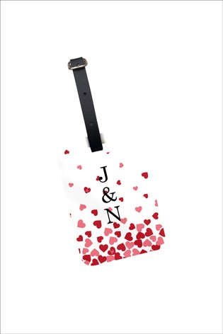 Personalised Lipsy Floating Hearts Luggage Tag By Koko Blossom