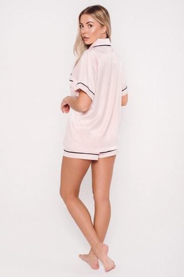 Personalised Satin Luxe Short Sleeve Pyjama Set By HA Designs