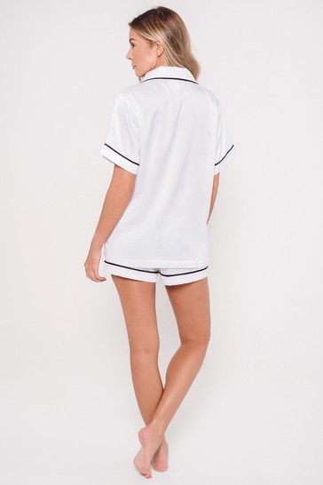 Personalised Satin Luxe Short Sleeve Pyjama Set By HA Designs