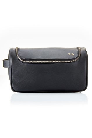 Personalised Saffiano Flap Wash Bag By HA Designs