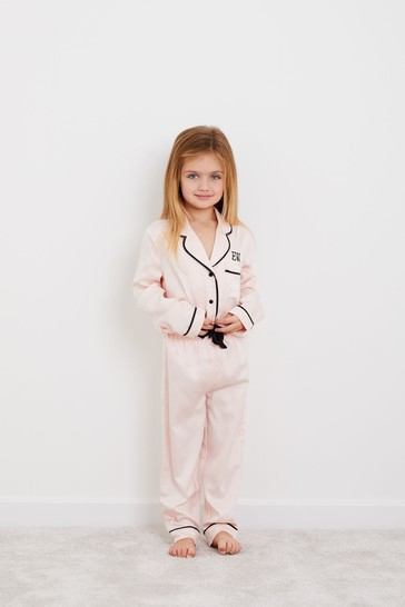 Personalised HA Mini Childrens Long Sleeve Pyjama Set By HA Designs