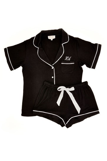 Personalised Sleep Jersey Short Sleeve Pyjama Set By HA Designs