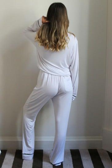 Personalised Jersey Long Sleeve Pyjama Set By HA Designs