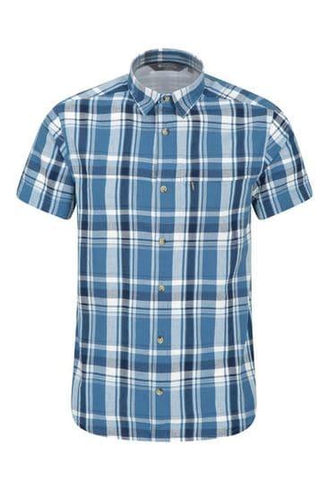 Mountain Warehouse Blue Holiday Mens Cotton Shirt