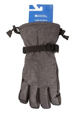 Mountain Warehouse Black and Grey Lodge Mens Ski Gloves