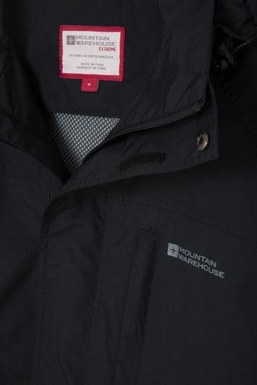 Mountain Warehouse Black Glacier Ii Extreme Mens Waterproof Long Jacket