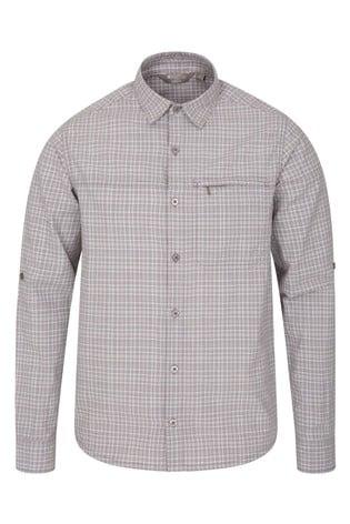 Mountain Warehouse Grey Check Adventure Ii Mens Shirt