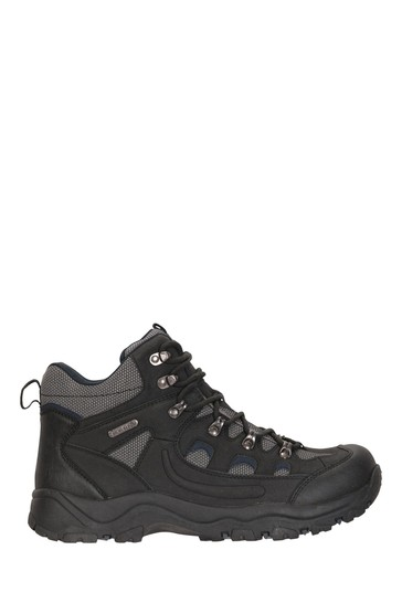 Mountain Warehouse Black Adventurer Mens Waterproof Boots
