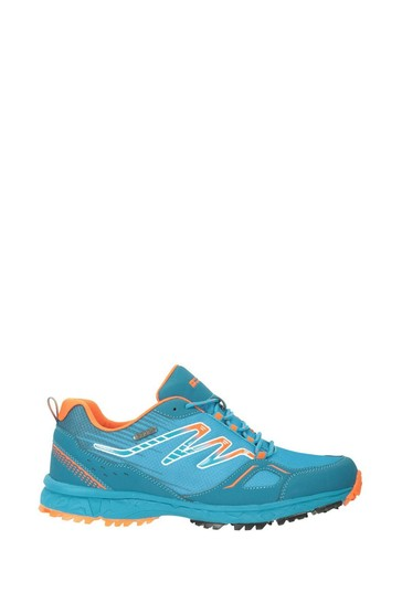 Mountain Warehouse Blue Enhance Waterproof Trail Mens Running Sneakers