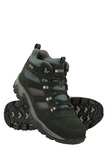 Mountain Warehouse Black Voyage Mens Waterproof Boots