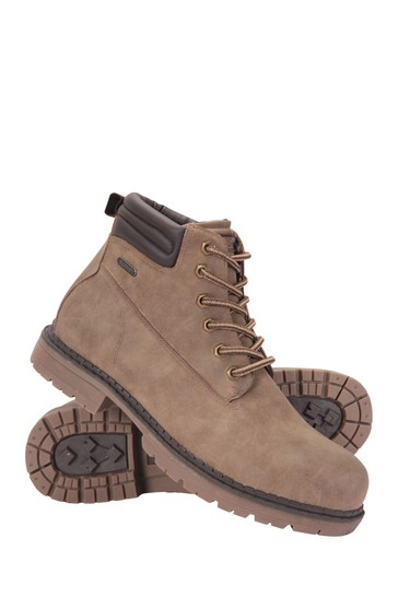 Mountain Warehouse Brown Gorge Winter Waterproof Mens Boots
