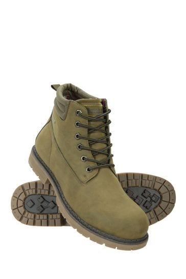 Mountain Warehouse Khaki Gorge Winter Waterproof Mens Boots