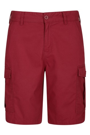 Mountain Warehouse Red Lakeside Mens Cargo Shorts