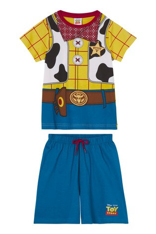 Kids Genius Nightwear Woody Character Shorts PJ Set