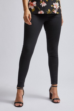 Dorothy Perkins Black Petite Skinny Coated Jeans