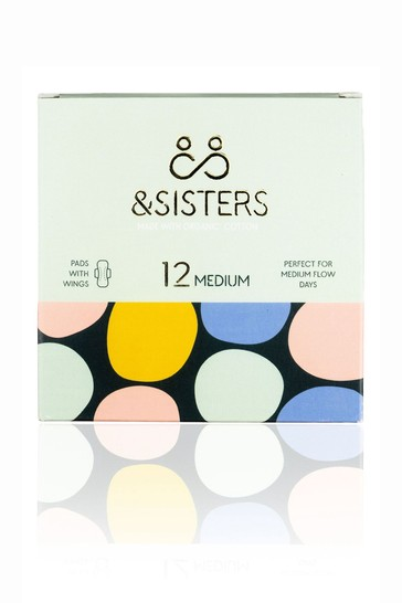 &Sisters   Plastic-free Pads with Wings   Organic   Bio-wrapped   Medium Day