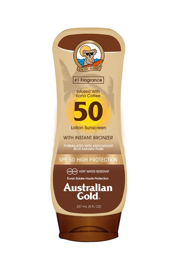 Australian Gold SPF 50 Lotion With Instant Bronzer 237ml