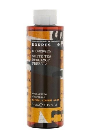 Korres White Tea, Bergamot & Freesia Shower Gel, Vegan