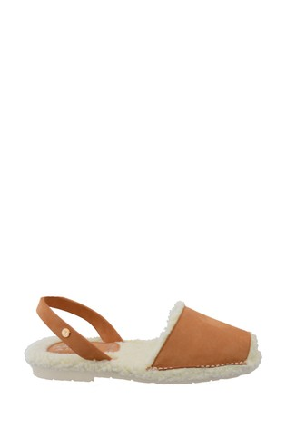 Palmaira Sandals Brown Snugs Slippers with Shearling Inner