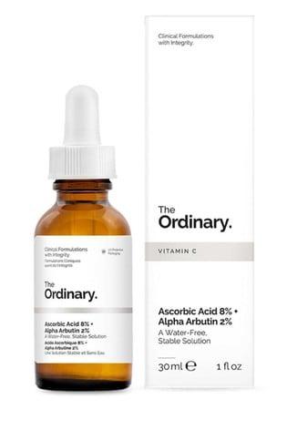 The Ordinary Ascorbic Acid 8% + Alpha Arbutin 2% 30ml