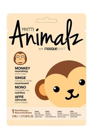 MasqueBAR Pretty Animalz Monkey Sheet Mask