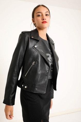 Pimkie Faux Leather Biker Jacket