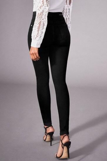 Lipsy Selena Black High Rise Regular Length Skinny Jeans