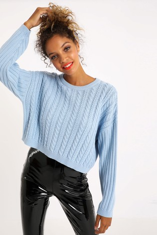 Pimkie Blue Cable Knit Jumper