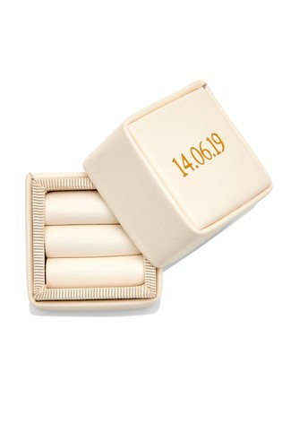 Personalised Double Ring Box By HA Designs