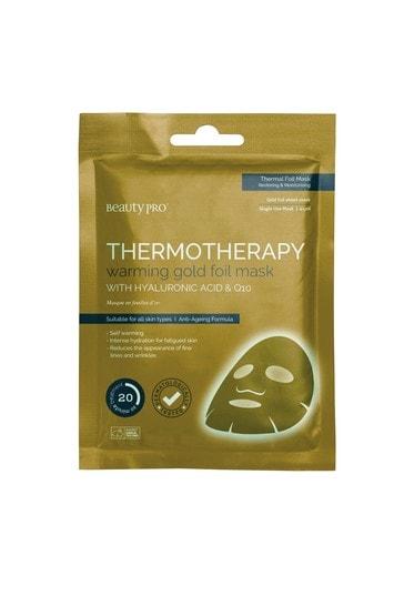 BeautyPro Hyaluronic Acid Warming Gold Foil Face Mask