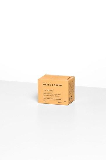 Grace & Green Organic Non-Applicator Tampons Regular