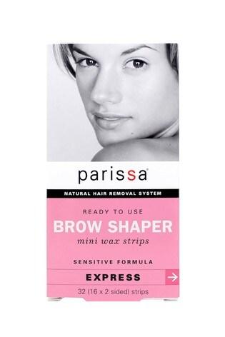 Parissa Mini Wax Strips Eyebrow Design Sensitive Formula 32 (16 x 2 Sided) Strips