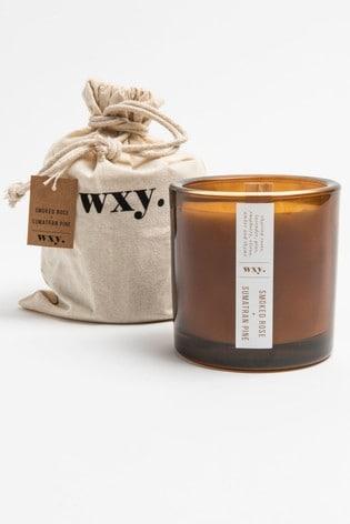Wxy Big Amber Candle 12.5oz Smoked Rose + Sumatran Pine