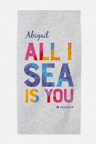 Personalised Aquaman™ Beach Towel by Custom Gifts